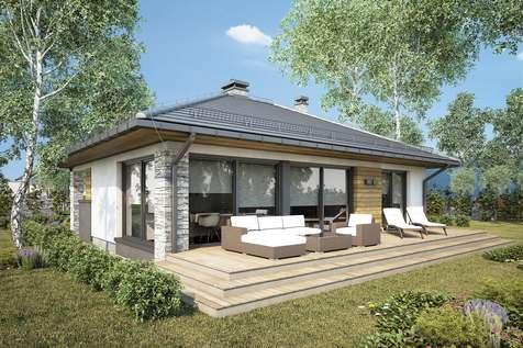 Projekt domu parterowego ROMANO - wizualizacja 2