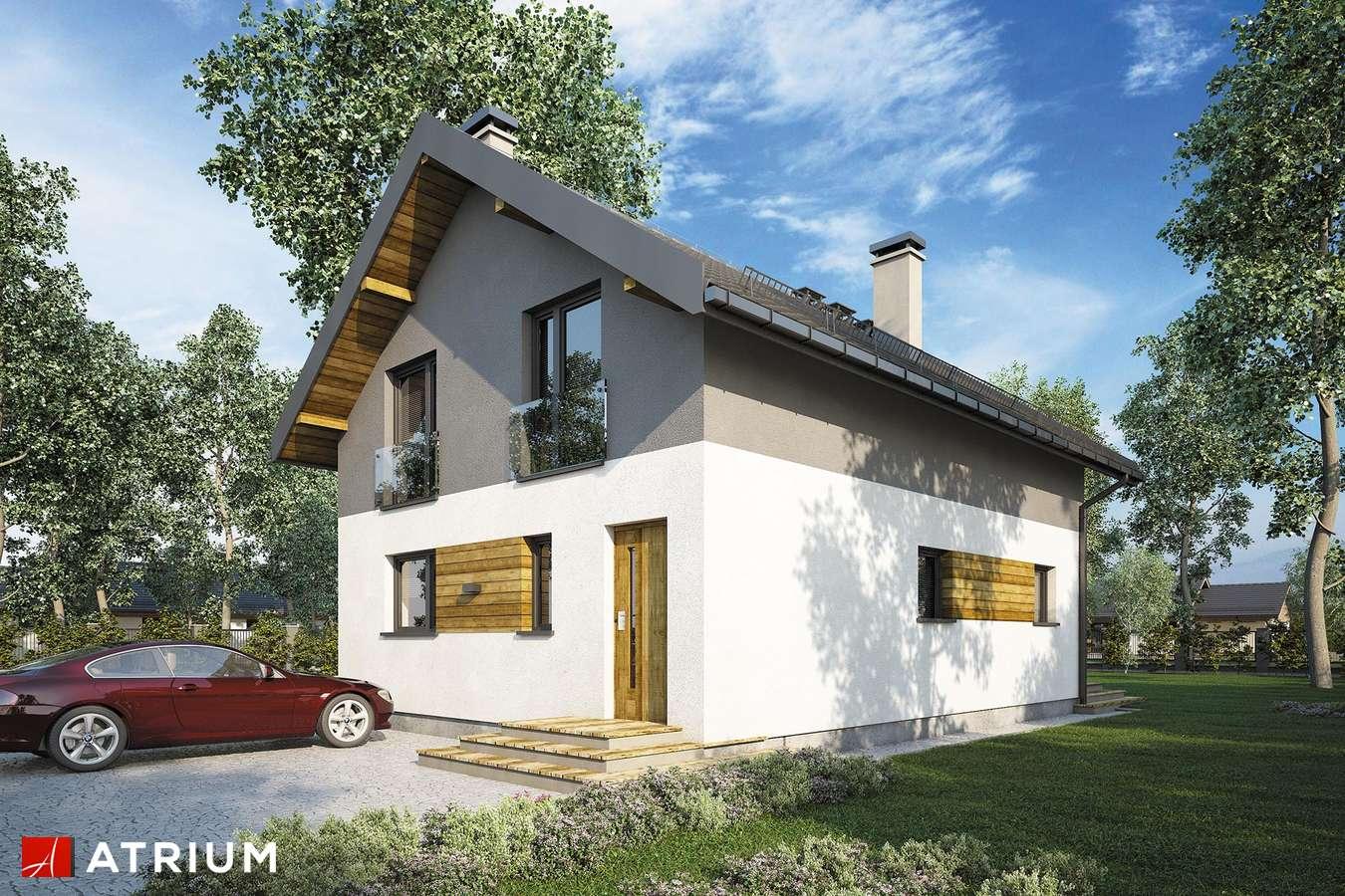 Projekty domów - Projekt domu z poddaszem BERGAMO III - wizualizacja 1