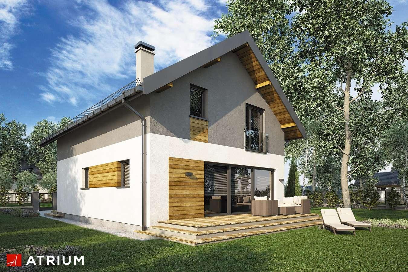 Projekty domów - Projekt domu z poddaszem BERGAMO III - wizualizacja 2