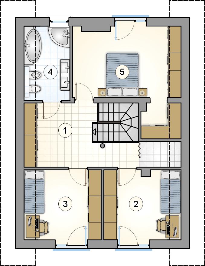 - projekt Bergamo IV - wersja lustrzana