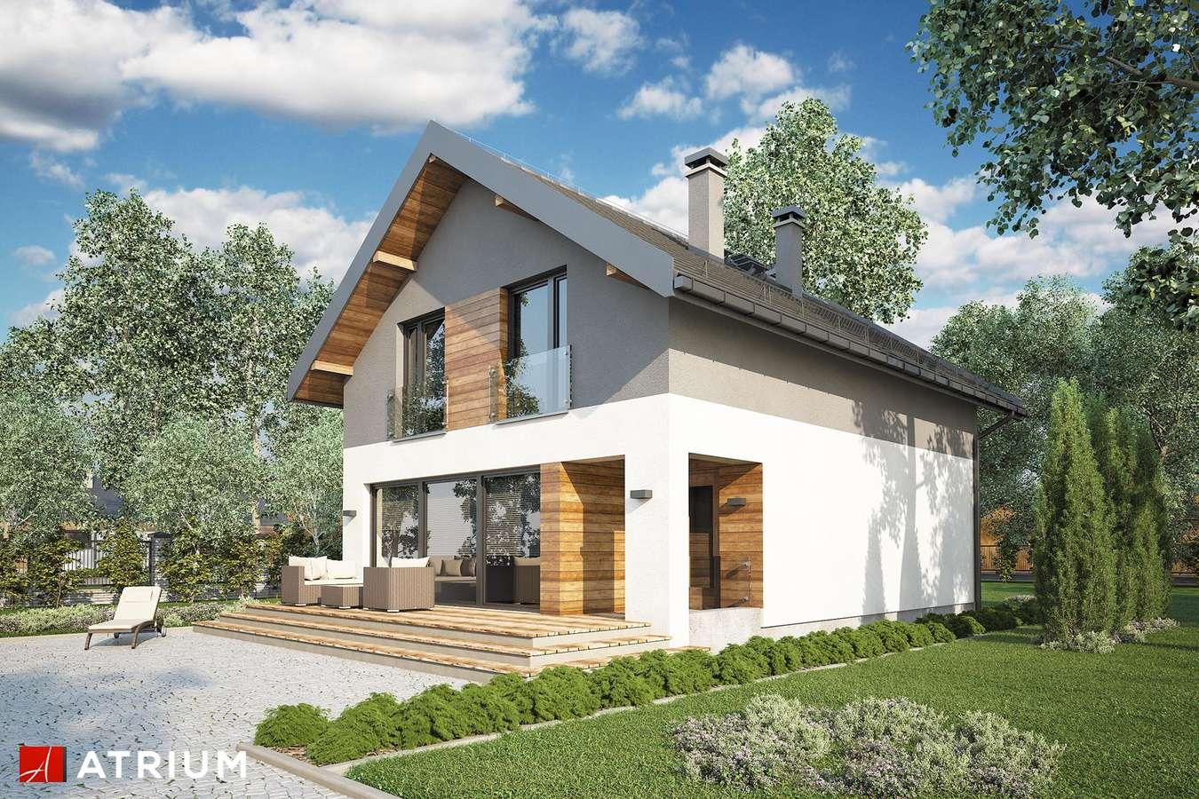 Projekty domów - Projekt domu z poddaszem BERGAMO IV - wizualizacja 1 - wersja lustrzana