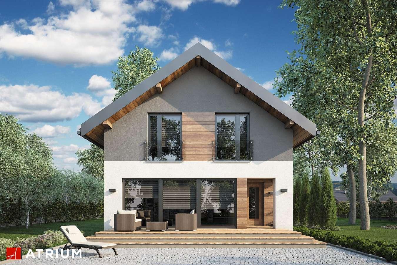Projekty domów - Projekt domu z poddaszem BERGAMO IV - wizualizacja 2 - wersja lustrzana