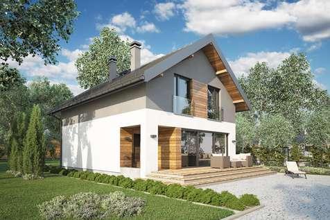 Projekt domu z poddaszem BERGAMO IV