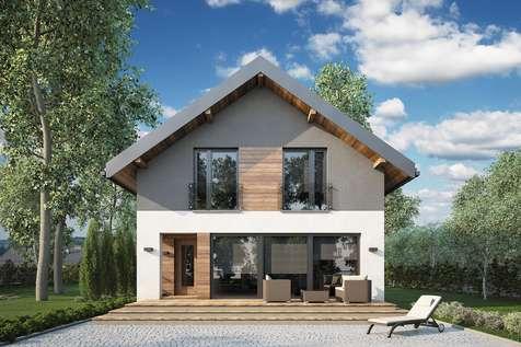 Projekt domu z poddaszem BERGAMO IV - wizualizacja 2