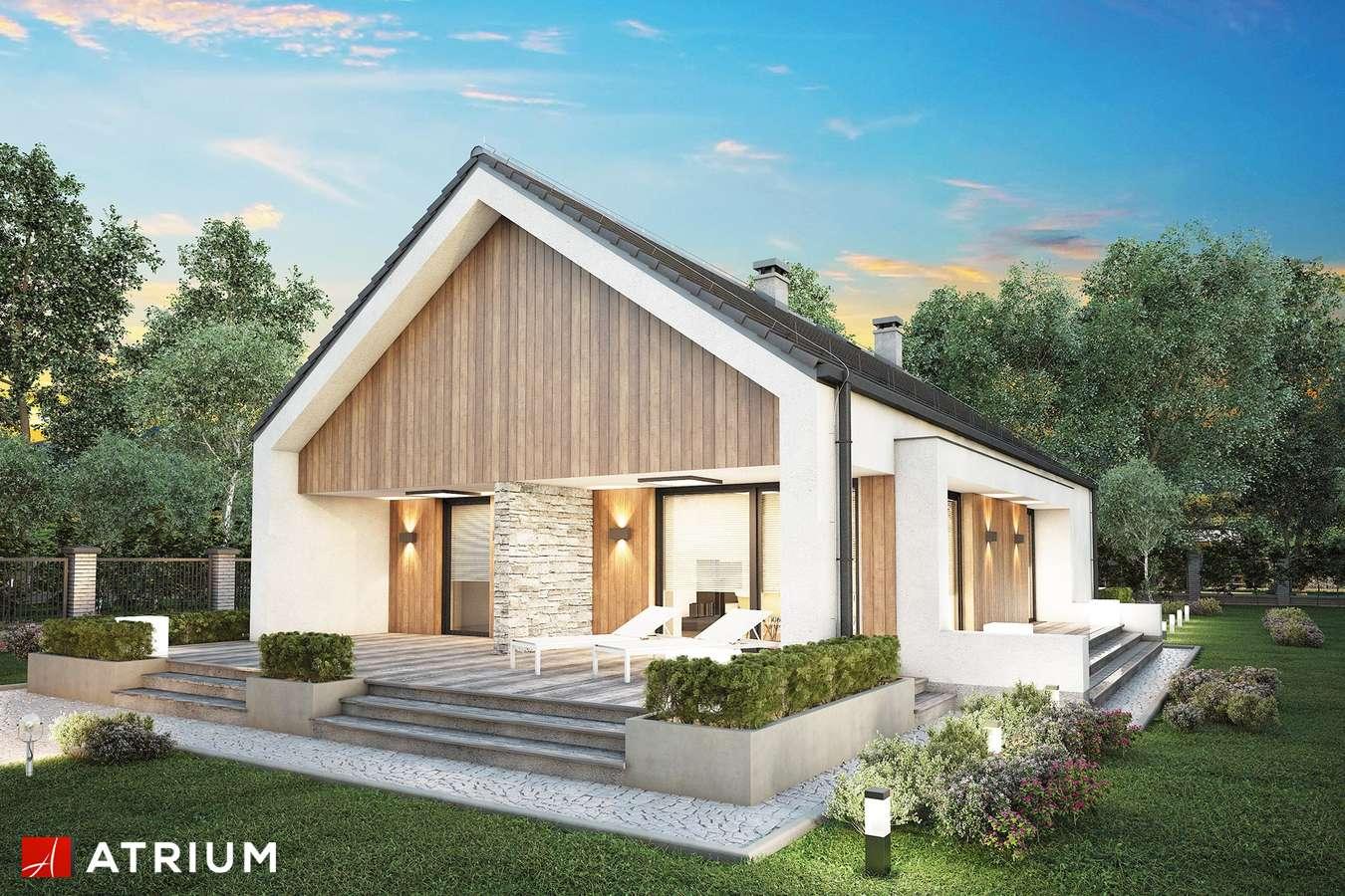Projekty domów - Projekt domu parterowego LORENZO SZ - wizualizacja 1 - wersja lustrzana