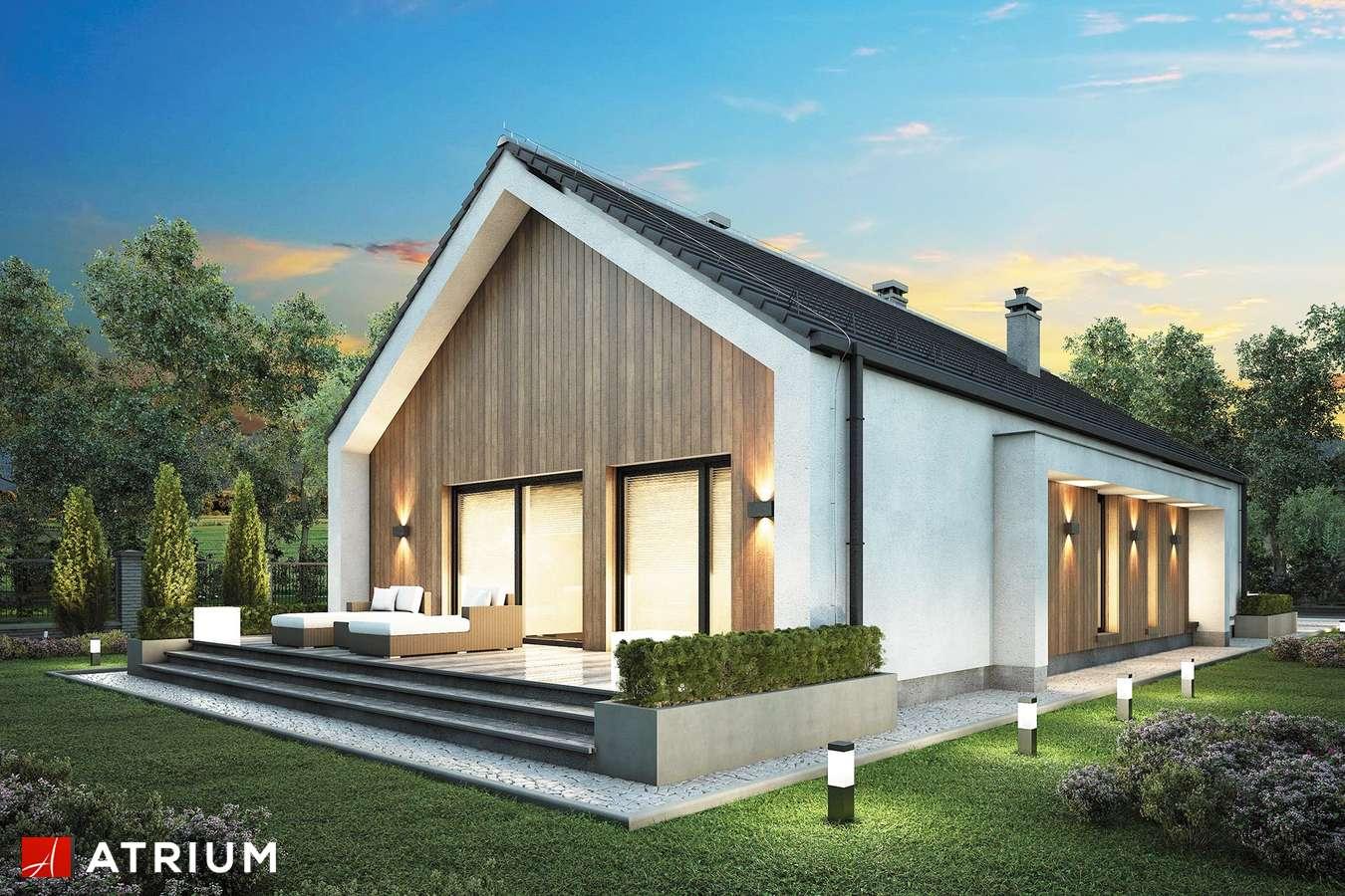 Projekty domów - Projekt domu parterowego LORENZO SZ - wizualizacja 2 - wersja lustrzana