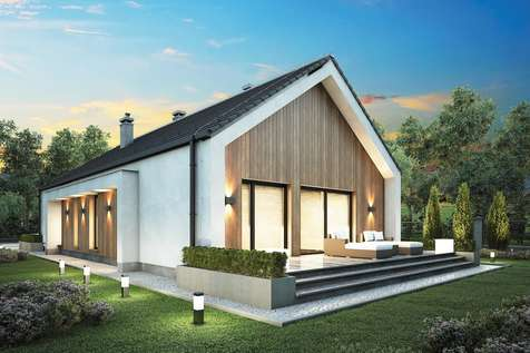 Projekt domu parterowego LORENZO SZ - wizualizacja 2
