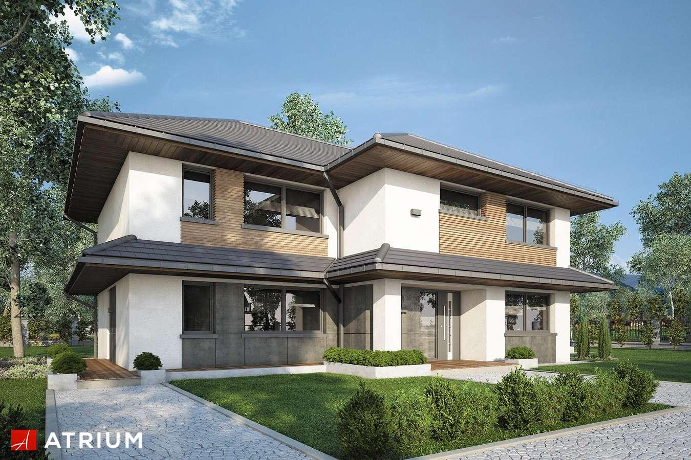 Projekty domów - Projekt domu piętrowego MARSYLIA - wizualizacja 1