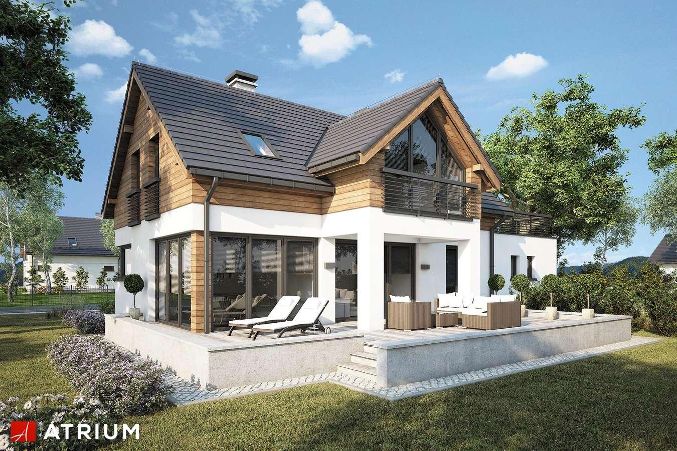 Projekty domów - Projekt domu z poddaszem SAMBA XV - wizualizacja 2