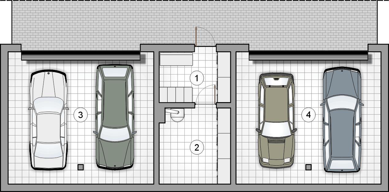 rzut piwnic - projekt Studio House