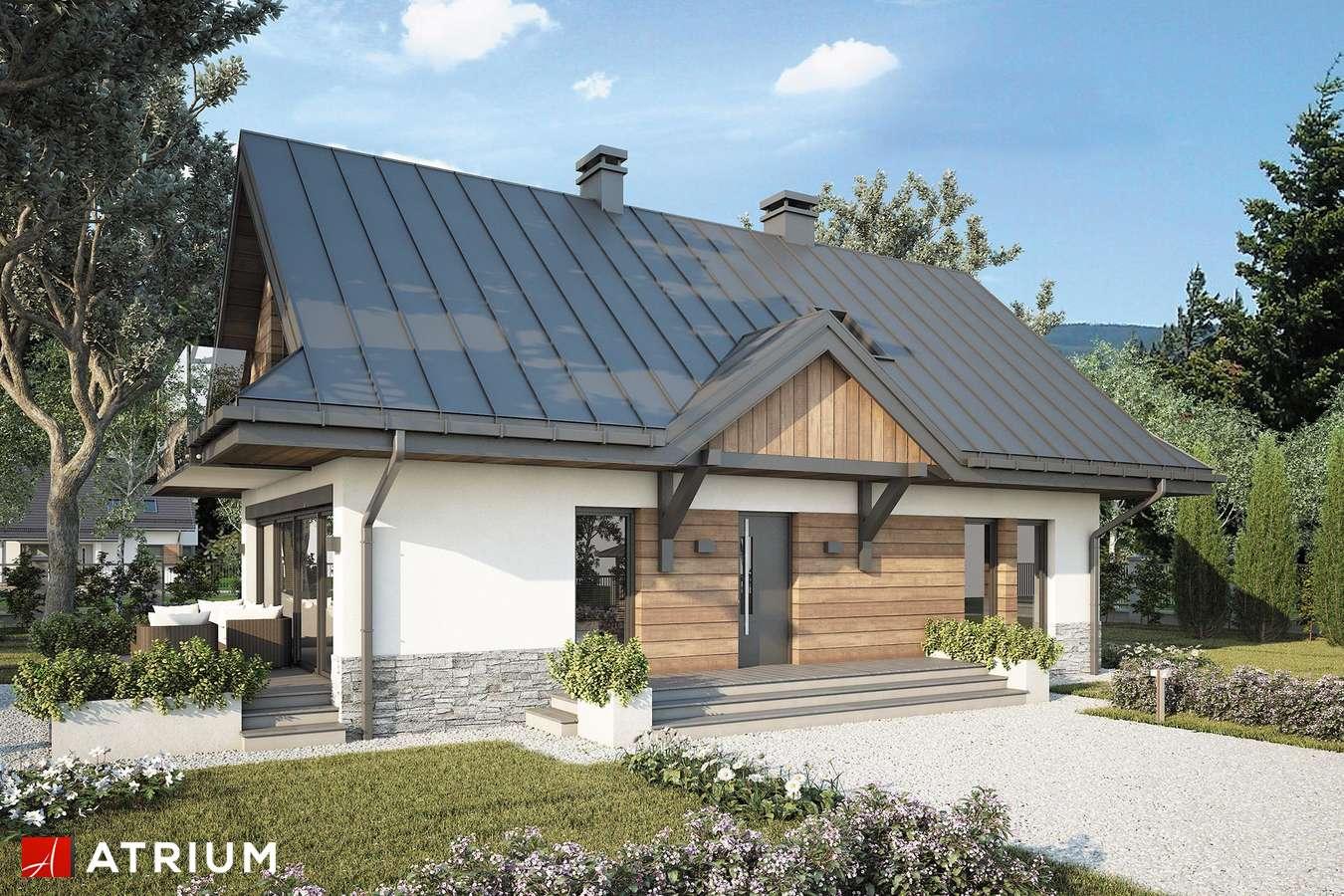 Projekty domów - Projekt domu z poddaszem KOLIBA NEW - wizualizacja 2