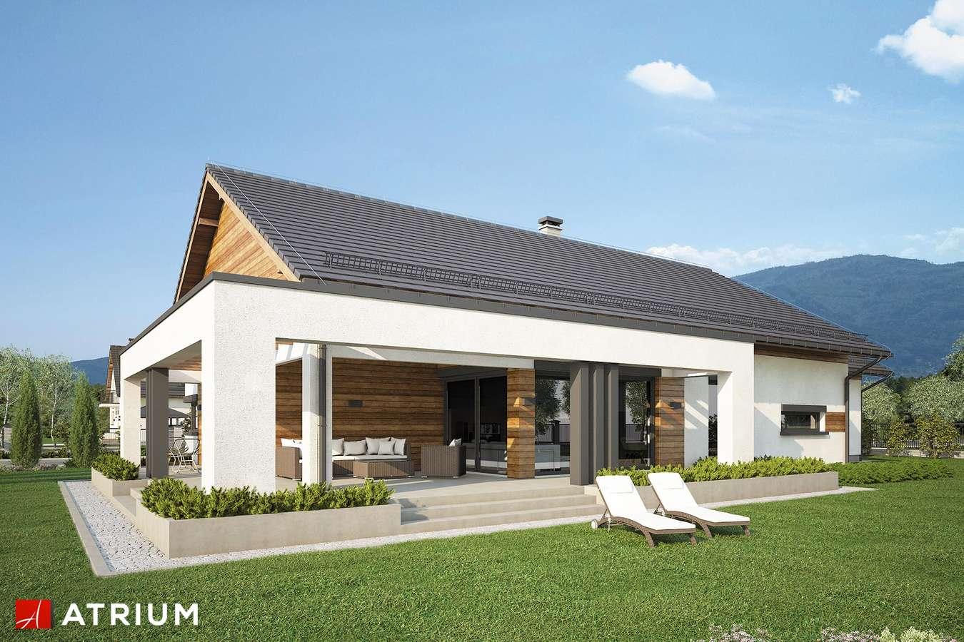 Projekty domów - Projekt domu parterowego MODEST II - wizualizacja 2