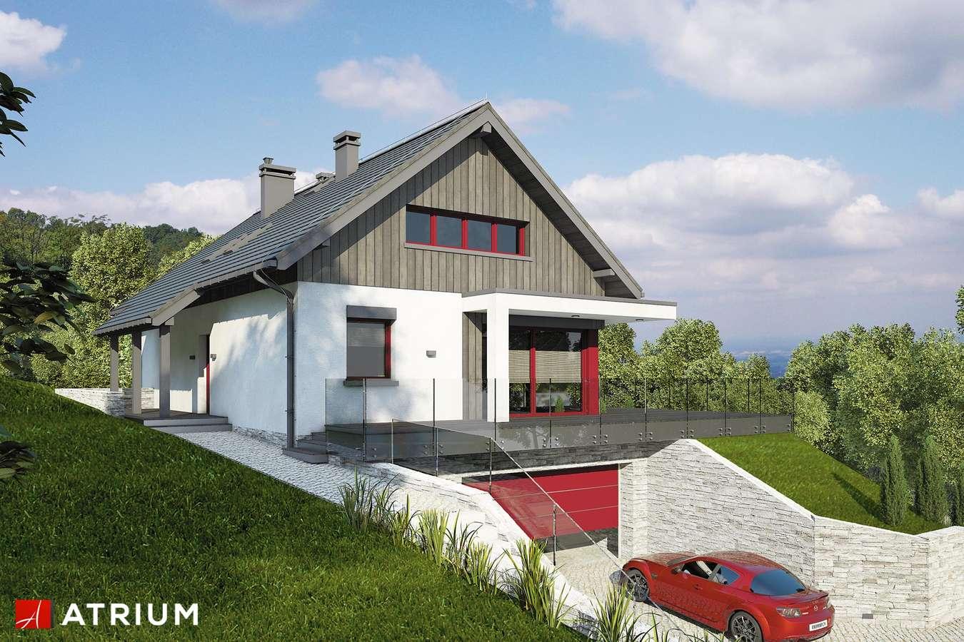 Projekty domów - Projekt domu z poddaszem BOSFOR - wizualizacja 2