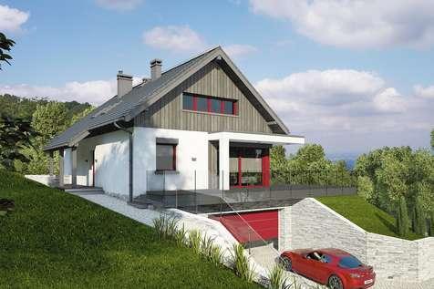 Projekt domu z poddaszem BOSFOR - wizualizacja 2