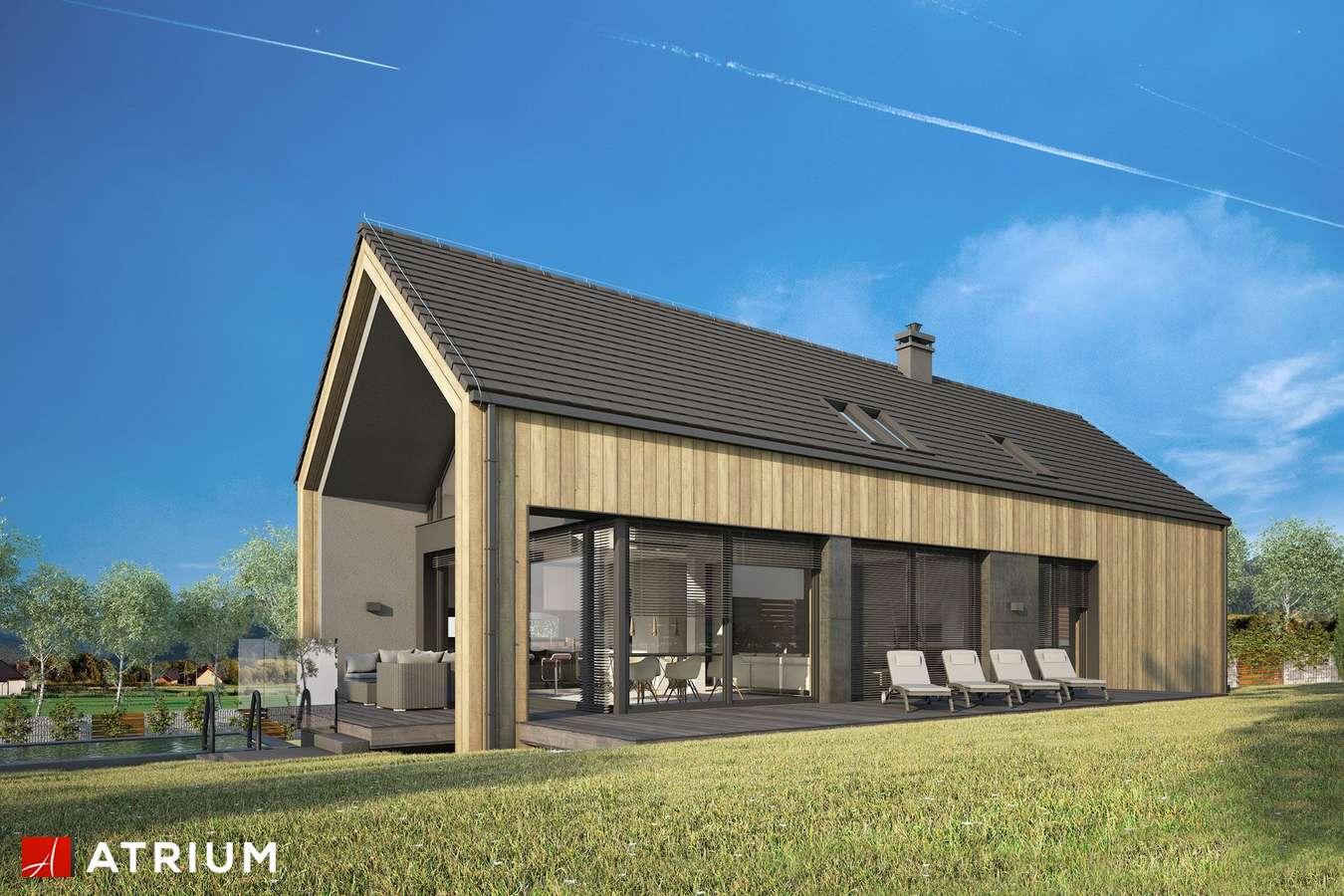 Projekty domów - Projekt domu z poddaszem MARIN III - wizualizacja 1 - wersja lustrzana