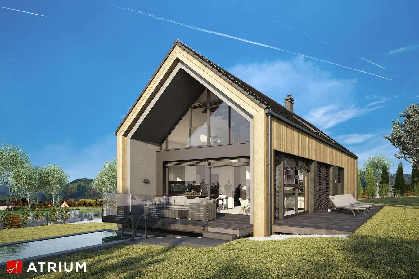 Projekty domów - Projekt domu z poddaszem MARIN III - wizualizacja 2 - wersja lustrzana