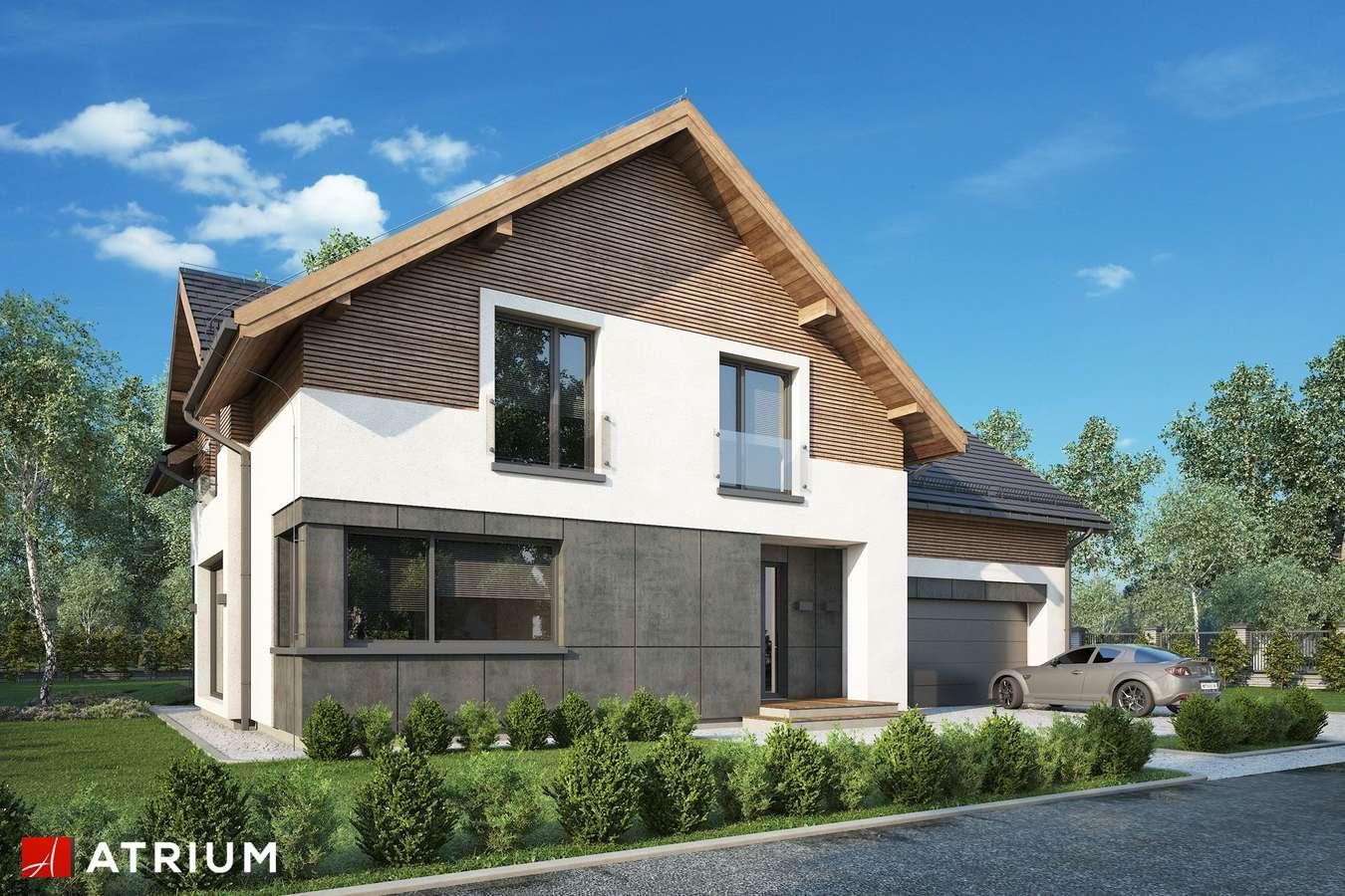 Projekty domów - Projekt domu z poddaszem JUPITER XVI - wizualizacja 1