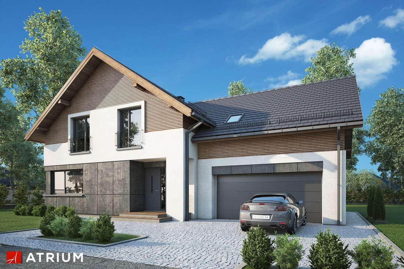 Projekty domów - Projekt domu z poddaszem JUPITER XVI - wizualizacja 2