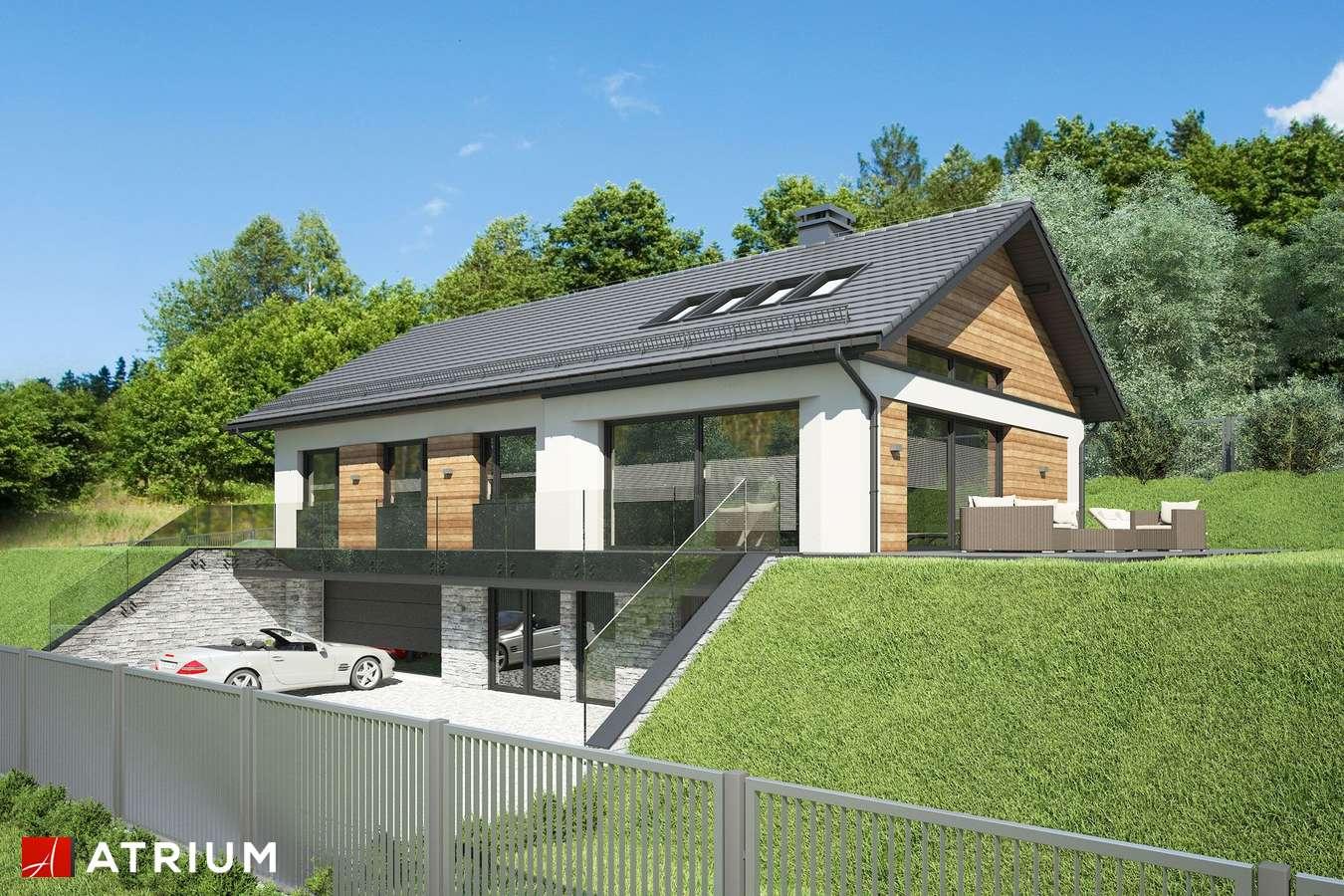 Projekty domów - Projekt domu parterowego MUNA - wizualizacja 2