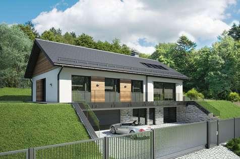 Projekt domu parterowego MUNA - wizualizacja 1
