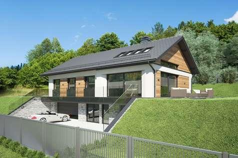 Projekt domu parterowego MUNA - wizualizacja 2