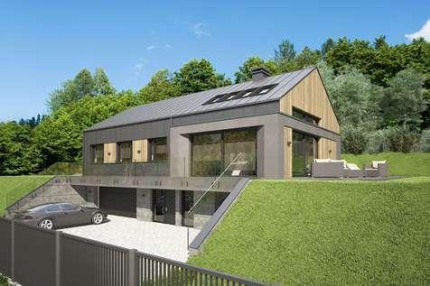 Projekt domu parterowego MUNA II - wizualizacja 1