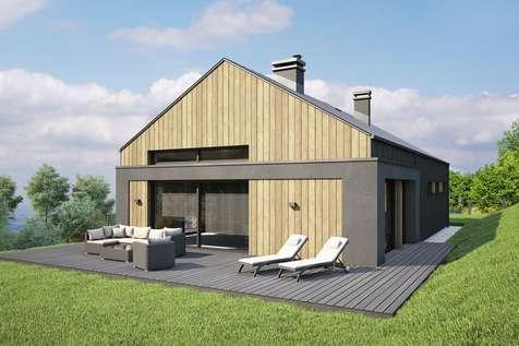 Projekt domu parterowego MUNA II - wizualizacja 2