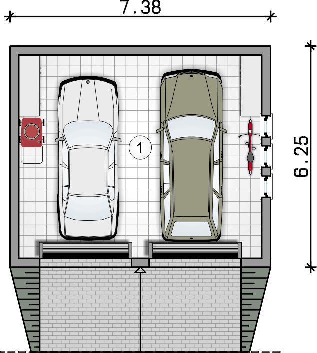 rzut parteru - Garaż Z 10