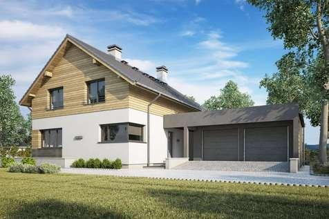 Projekt domu z poddaszem SAMBA PLUS II - wizualizacja 1