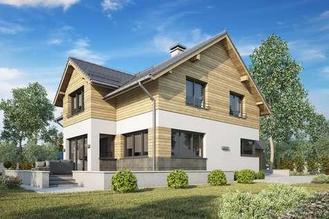 Projekt domu z poddaszem SAMBA PLUS II - wizualizacja 2