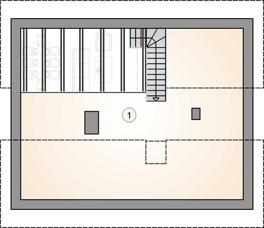 rzut poddasza - projekt Ricardo Lift IV - wersja lustrzana
