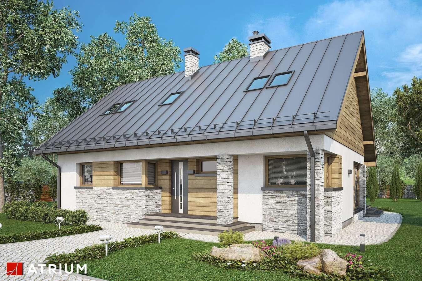 Projekty domów - Projekt domu z poddaszem ROBERTO LIFT II - wizualizacja 1