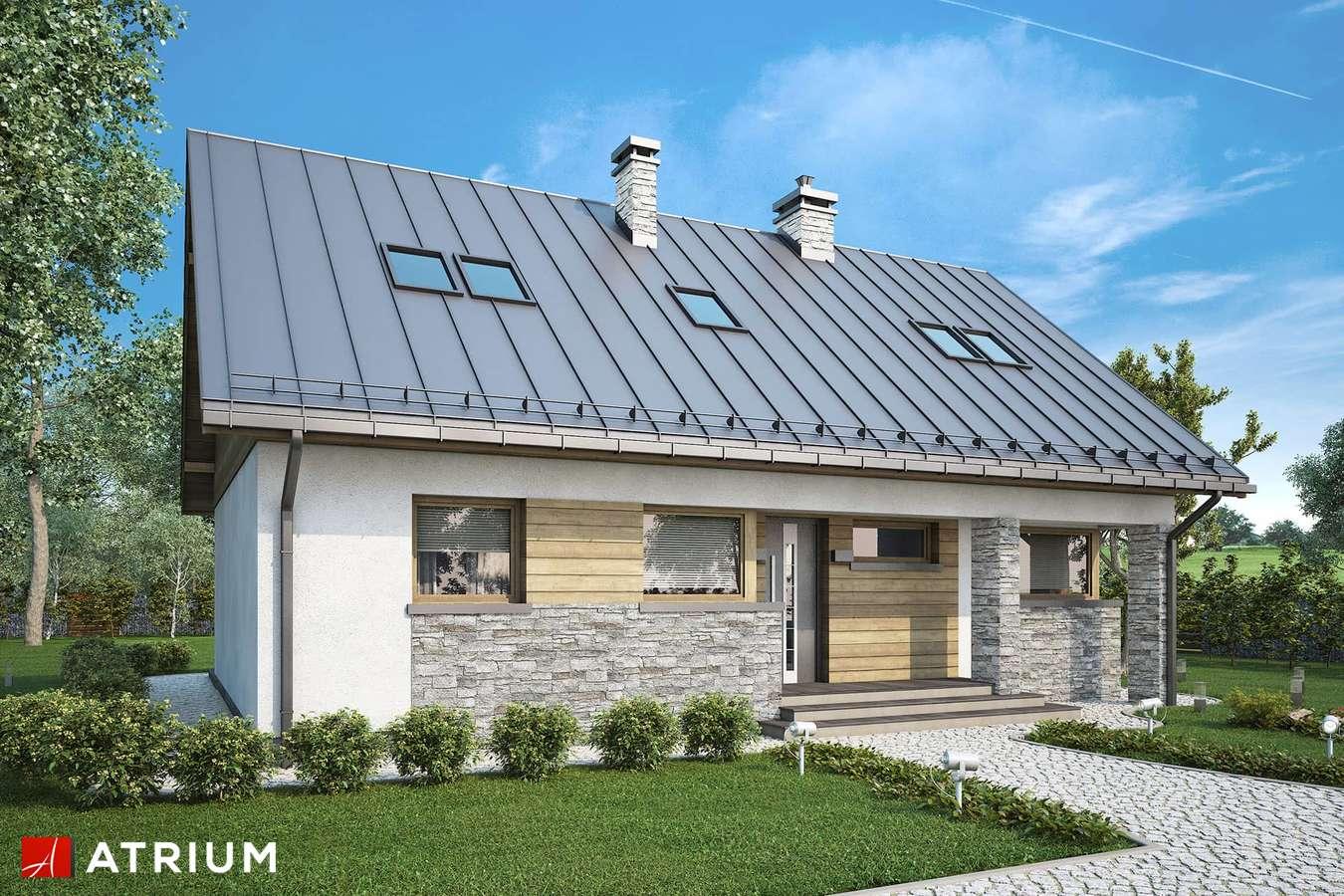 Projekty domów - Projekt domu z poddaszem ROBERTO LIFT II - wizualizacja 2