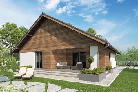 Projekt domu parterowego KOS X SZ - wizualizacja 2