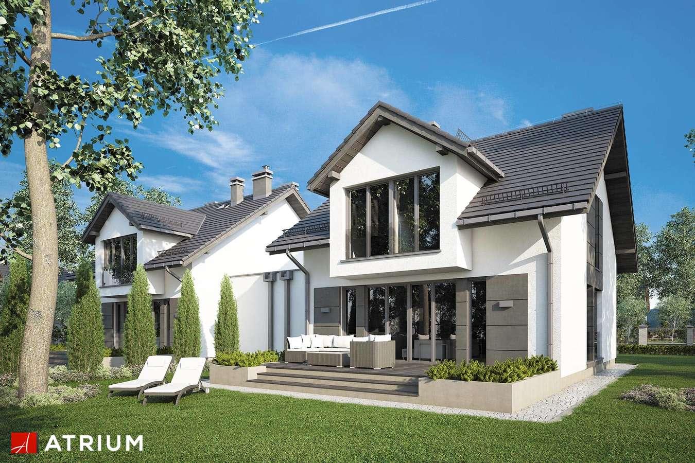 Projekty domów - Projekt domu z poddaszem DUET III - wizualizacja 2