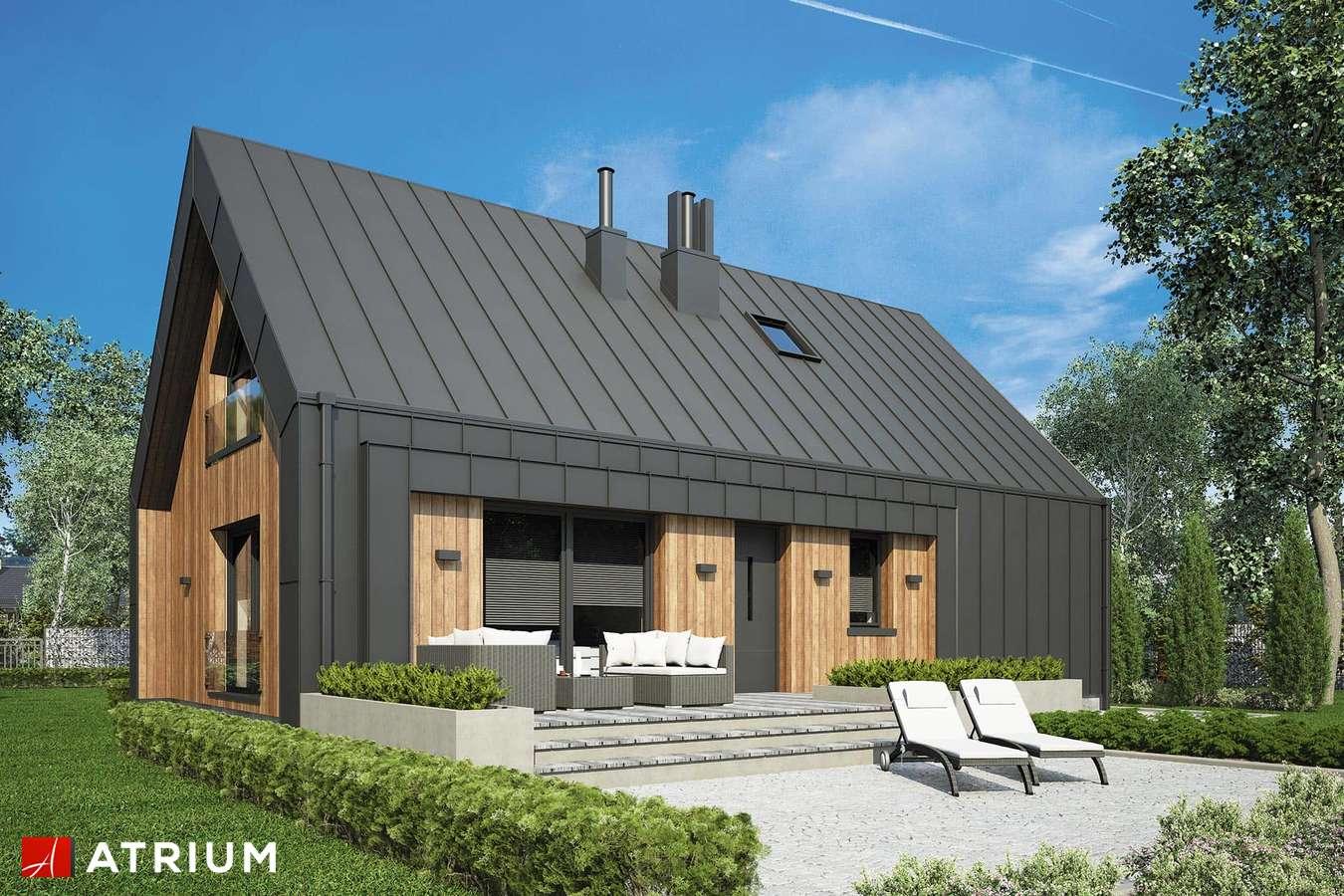 Projekty domów - Projekt domu z poddaszem AURORA MIDI IV - wizualizacja 2
