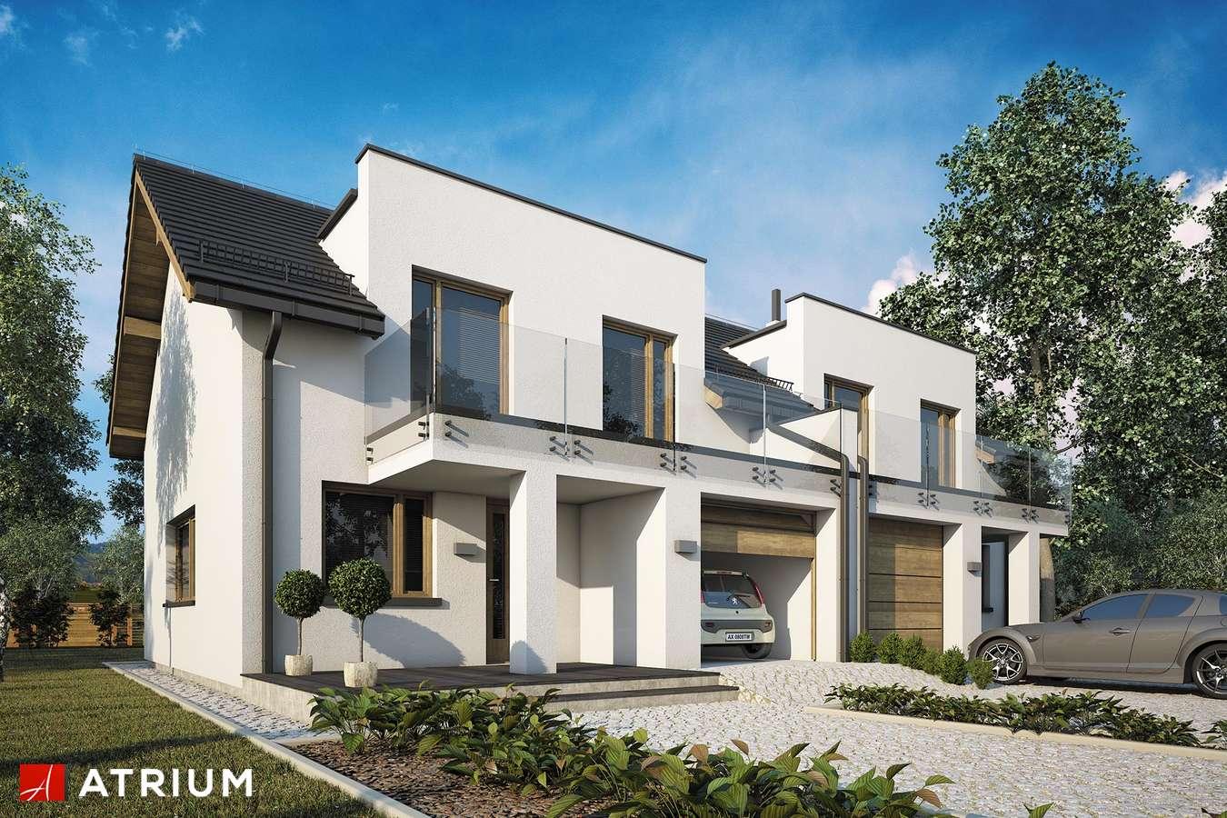 Projekty domów - Projekt domu z poddaszem DOUBLE HOUSE V - wizualizacja 1