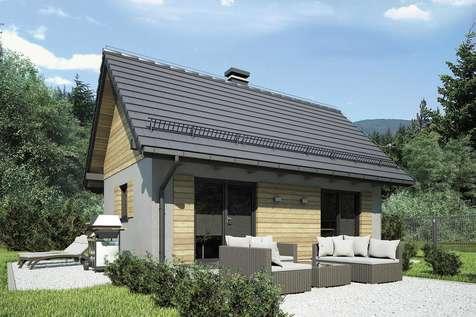 Projekt domu parterowego PUNTO III - wizualizacja 1