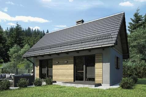 Projekt domu parterowego PUNTO III - wizualizacja 2