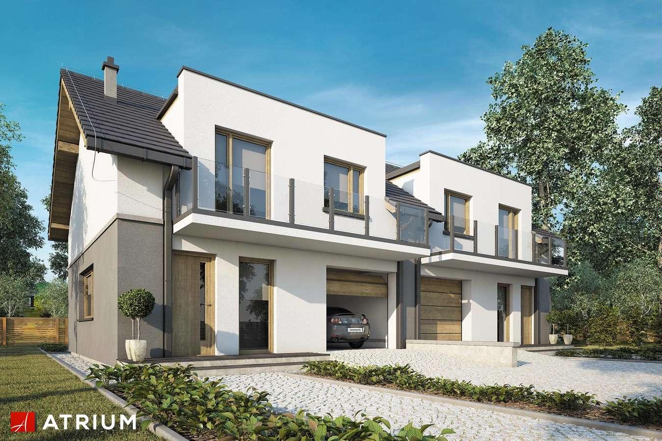 Projekty domów - Projekt domu z poddaszem DOUBLE HOUSE VI - wizualizacja 1