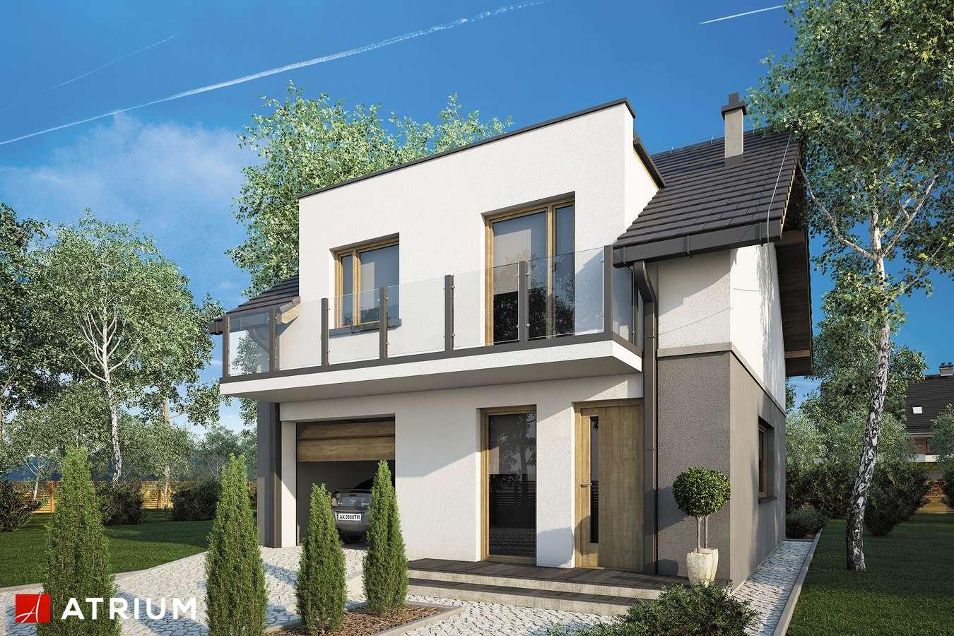 Projekty domów - Projekt domu z poddaszem SINGLE HOUSE - wizualizacja 1 - wersja lustrzana