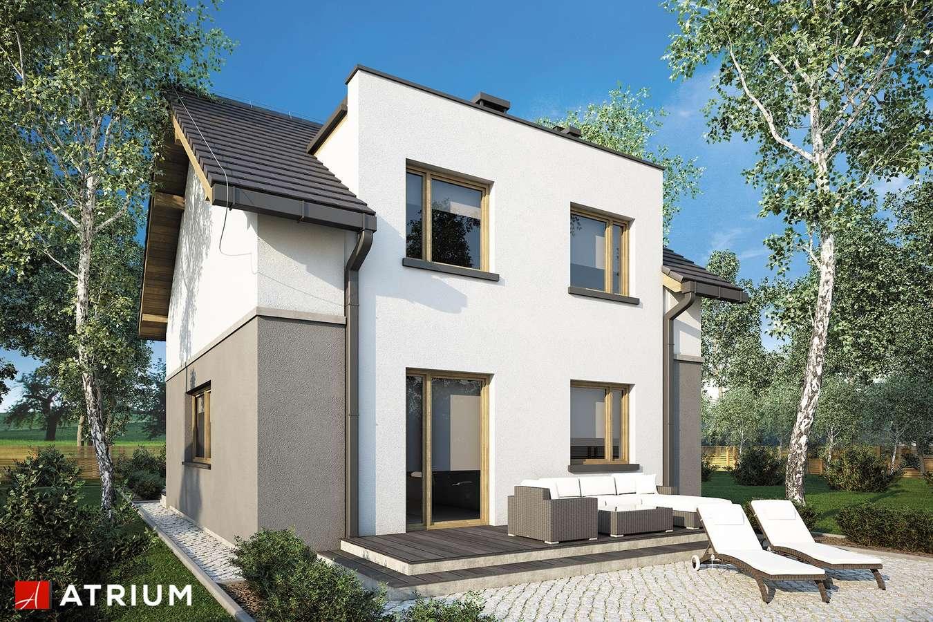 Projekty domów - Projekt domu z poddaszem SINGLE HOUSE - wizualizacja 2 - wersja lustrzana