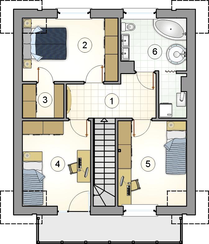 rzut poddasza - projekt Single House