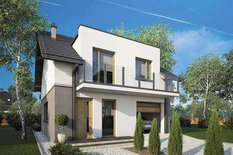 Projekt domu z poddaszem SINGLE HOUSE