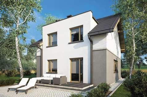 Projekt domu z poddaszem SINGLE HOUSE - wizualizacja 2