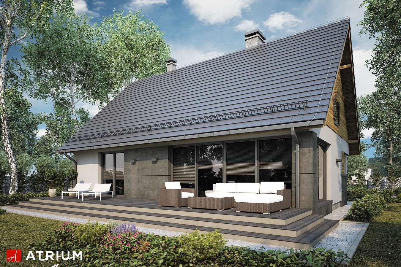 Projekty domów - Projekt domu z poddaszem RICARDO LIFT V - wizualizacja 2 - wersja lustrzana