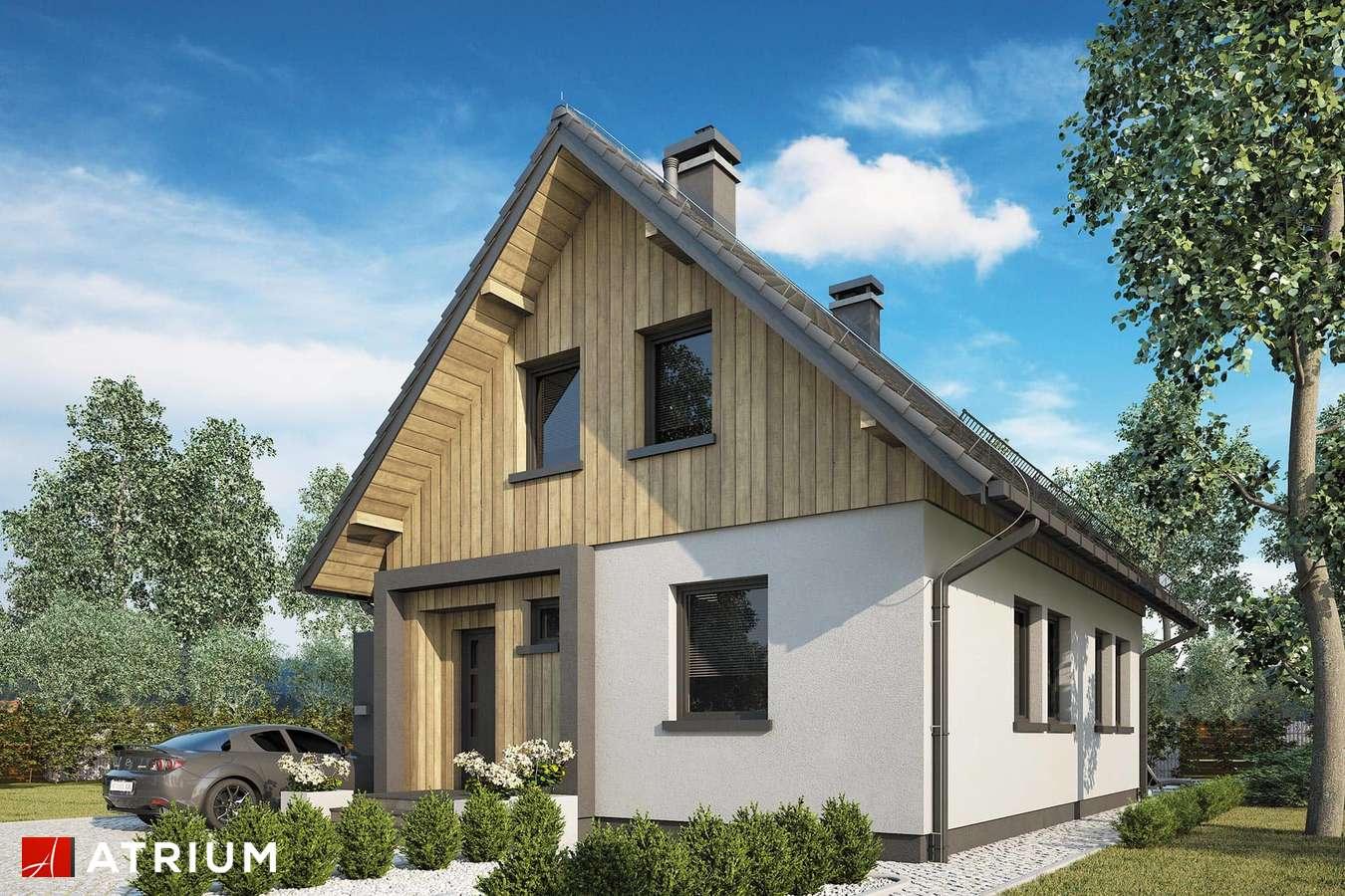 Projekty domów - Projekt domu z poddaszem FILIP - wizualizacja 1 - wersja lustrzana