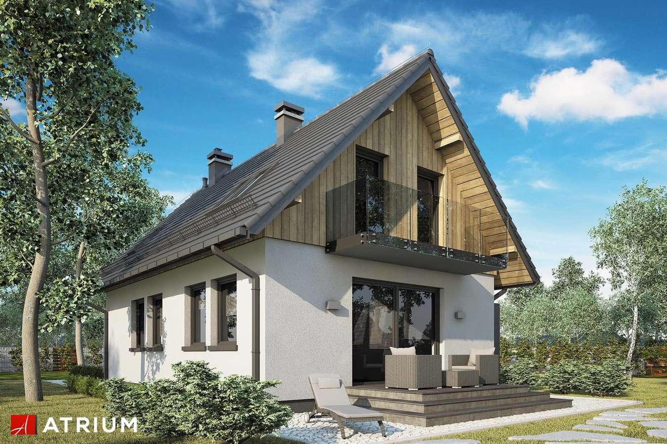 Projekty domów - Projekt domu z poddaszem FILIP - wizualizacja 2 - wersja lustrzana