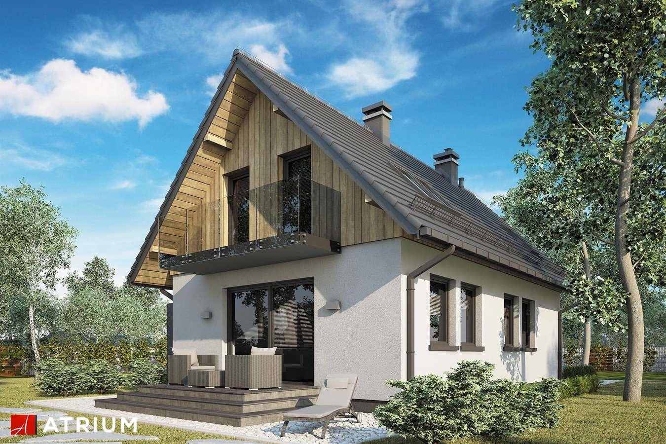 Projekty domów - Projekt domu z poddaszem FILIP - wizualizacja 2