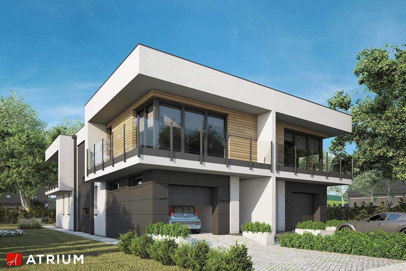 Projekty domów - Projekt domu piętrowego MODERN TWIN II - wizualizacja 1